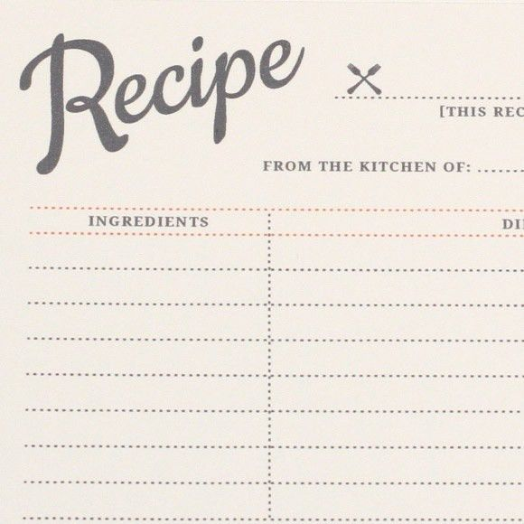 Custom Card Template » Recipe Card Template Word - Free Card ...