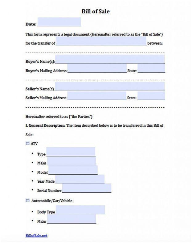 Bill Of Sale Sample Document : mughals
