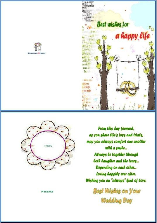 wedding wishes examples for cards » wedding gallery