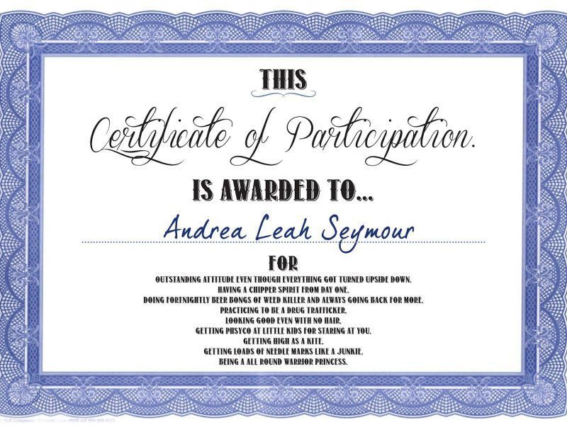 Free Certificate Of Participation Templates | Besttemplates123