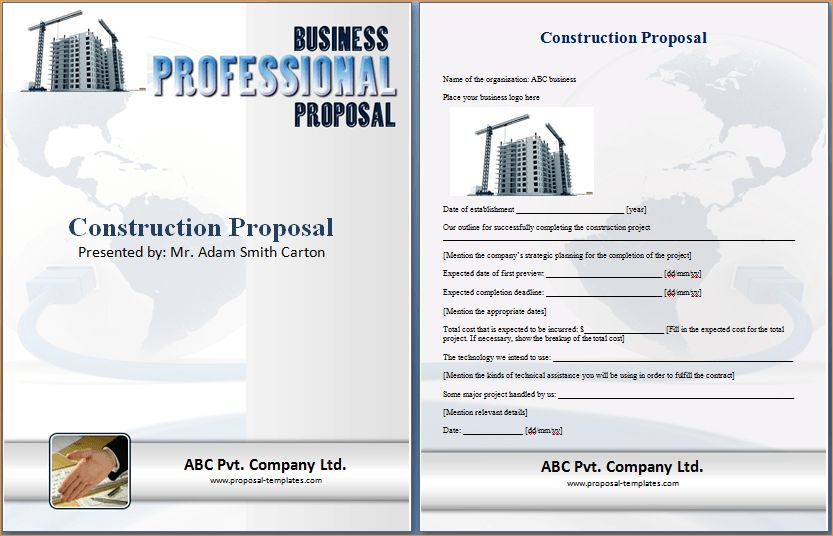 Construction proposal template word - Business Proposal Templated ...