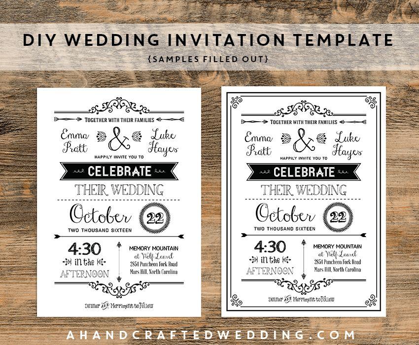 Free Rustic Wedding Invitation Templates | THERUNTIME.COM