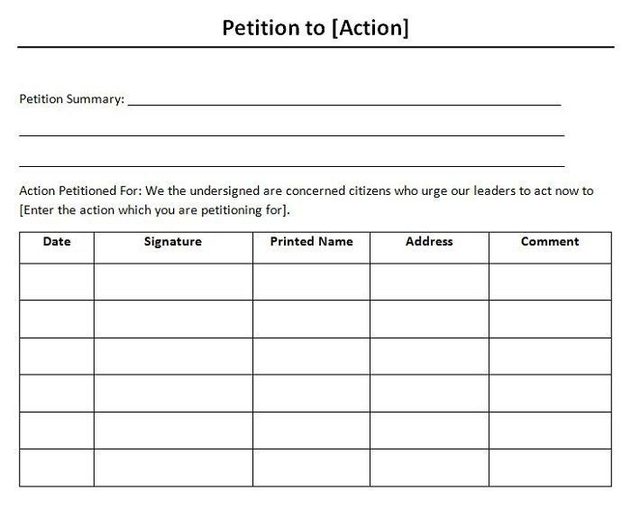 How To Write Petition Guide. Petition-Template-05 30 Free Petition ...