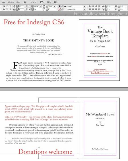 Free 6″ x 9″ book template for Adobe InDesign | News from JURN.org
