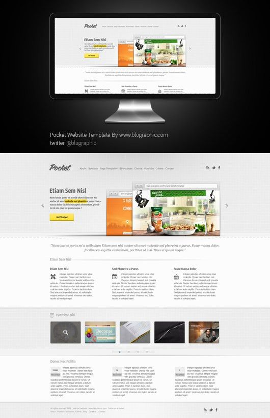 120+ Free PSD Website Templates