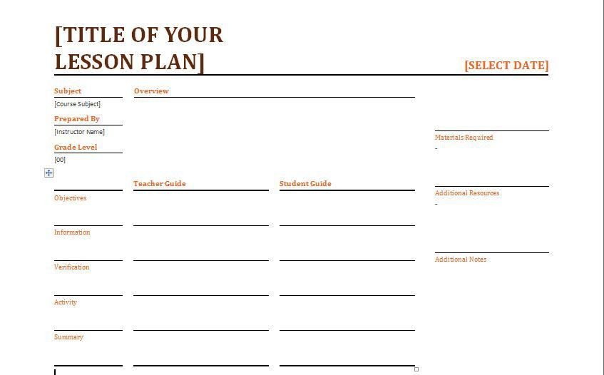 Lesson Plan Template Doc Complete Photo Daily Results Calendar