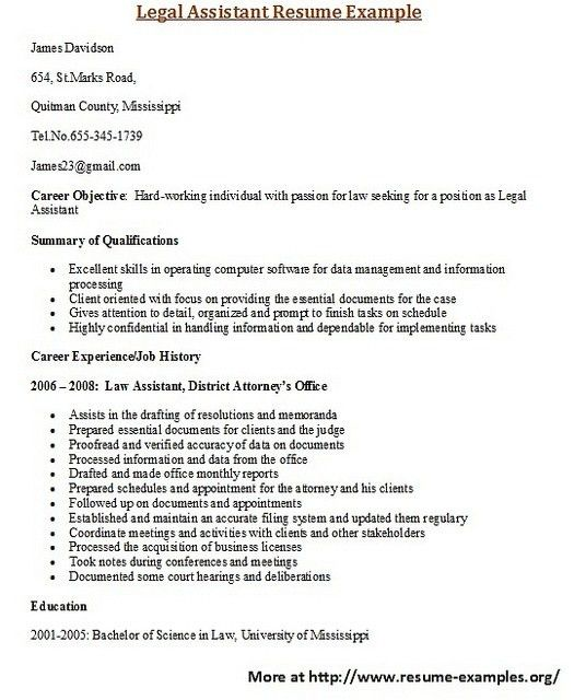 9 best Best Legal Resume Templates & Samples images on Pinterest ...