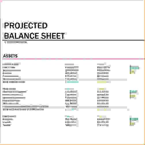 4+ free balance sheet template | Procedure Template Sample