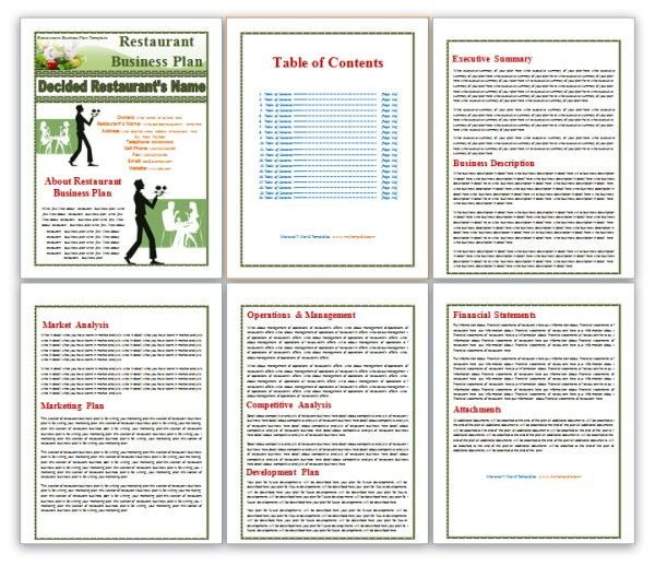 Restaurant Business Plan Template | Templates Platform