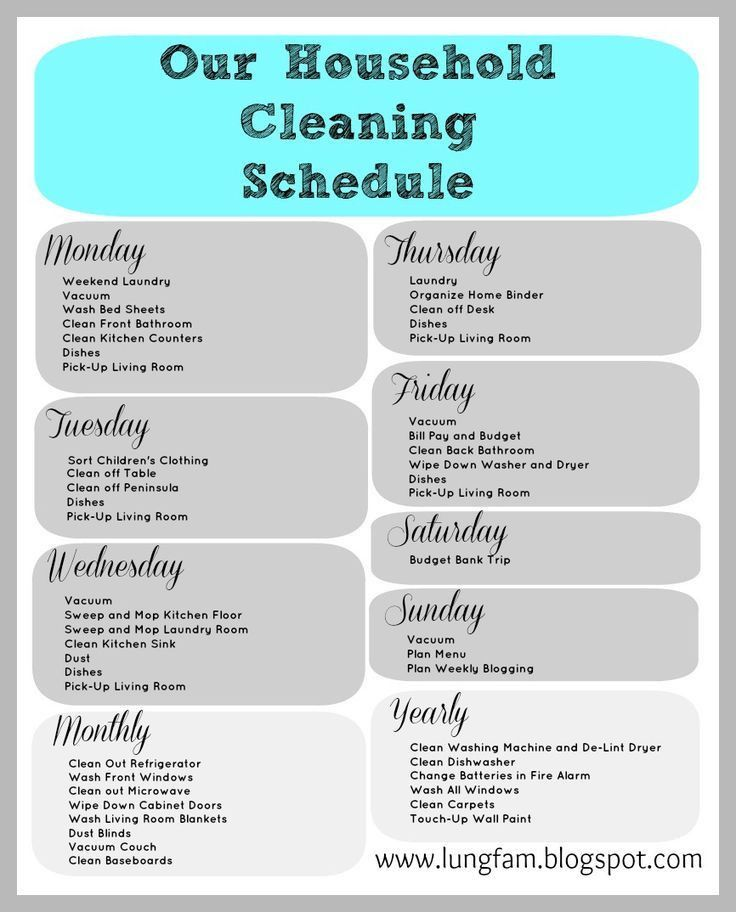 59 best Cleaning Check List images on Pinterest | Cleaning ...