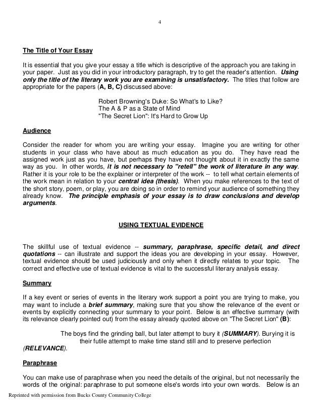 literary essay format literary essay template samples  literary analysis