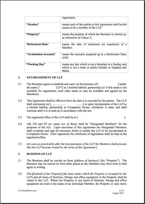 Printable Sample Partnership Agreement Form | Real Estate Forms ...