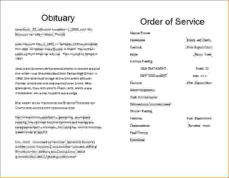 6 funeral program template wordAgenda Template Sample | Agenda ...