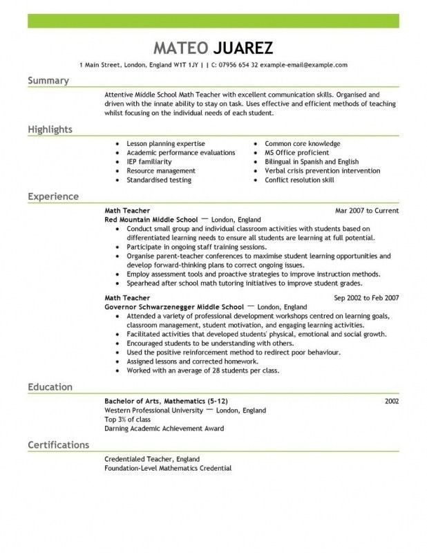How To Write A Teaching Resume | Samples Of Resumes