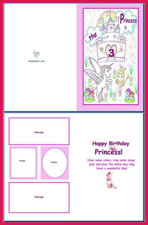 Birthday Card Template Word. greeting cards. card invitation ...