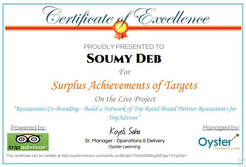 Sample Company Certificate given on project completion, Company ...