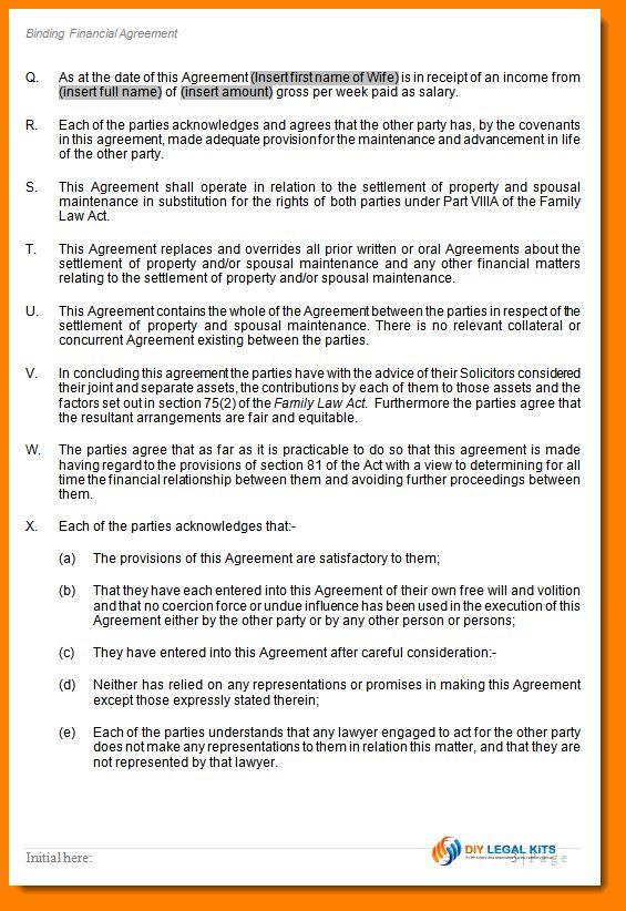 11+ divorce settlement agreement form sample | ledger paper