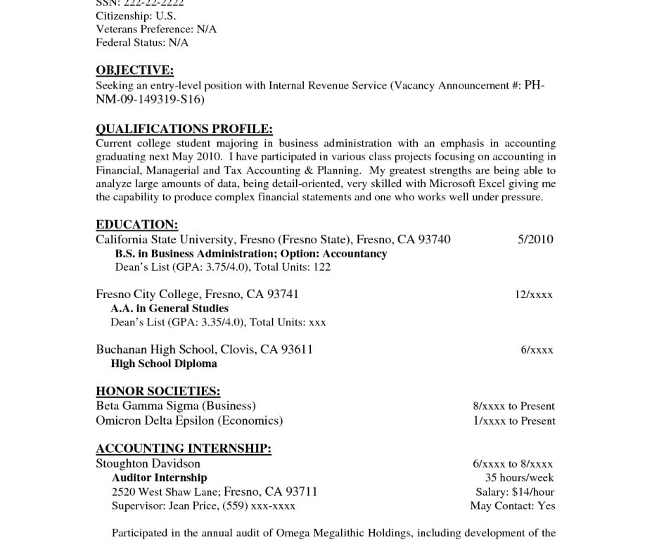 Objective For Resumes - CV Resume Ideas