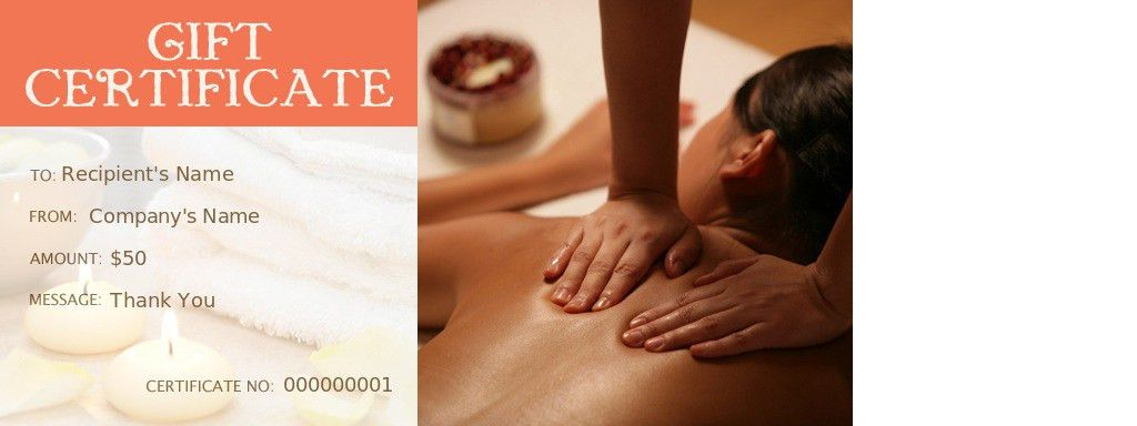 Holiday Massage Gift Certificate Template – Gift Ftempo