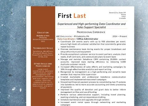 Resume Samples from StandOut Resumes LLC - StandOut Resumes LLC ...
