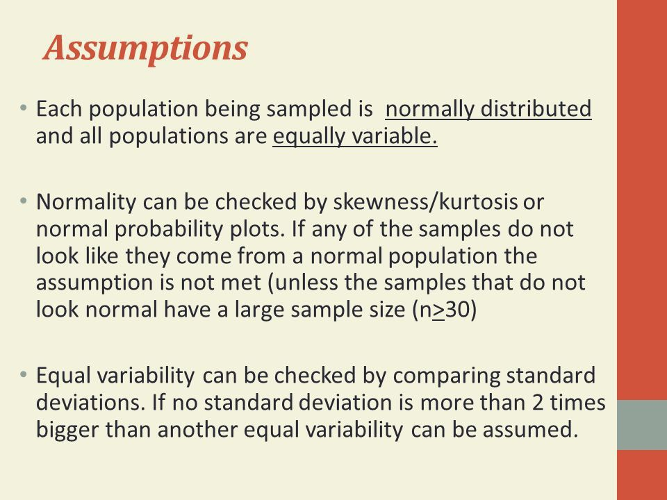 One-way ANOVA Example Analysis of Variance Hypotheses Model ...