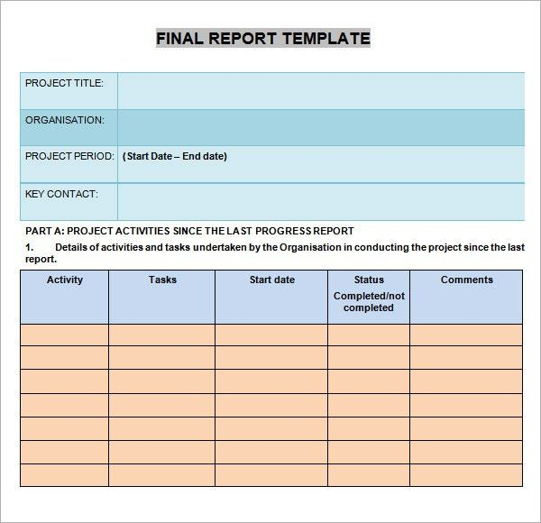 Progress Report Templates - 7+ Free Documents in PDF, Word