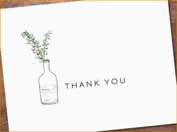 5+ Free Thank You Card Template | Ganttchart Template