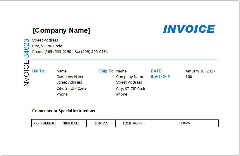 MS EXCEL Commission Invoice Template | EXCEL INVOICE TEMPLATES