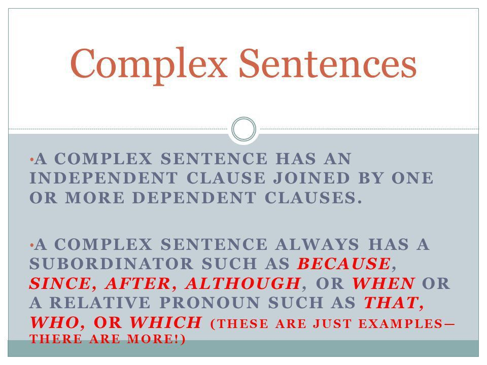 Simple, Compound, and Complex Sentences - ppt video online download
