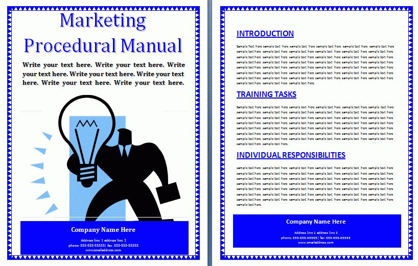 Procedure Manual Template | Professional Word Templates