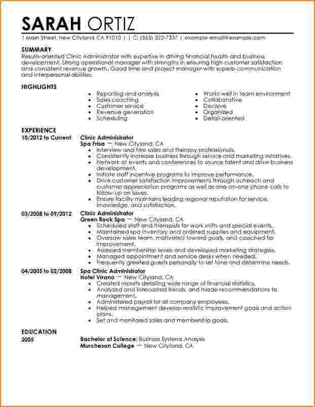 Healthcare Administration Sample Resume 9 Objective Resume For ...