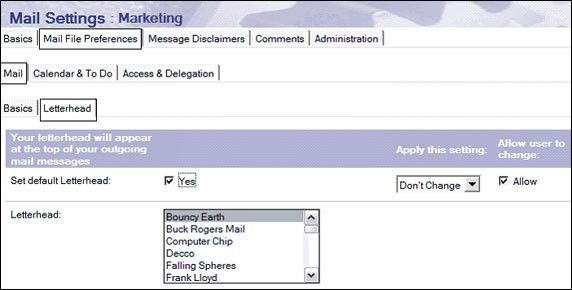 Creating Mail policies in Lotus Notes/Domino 7