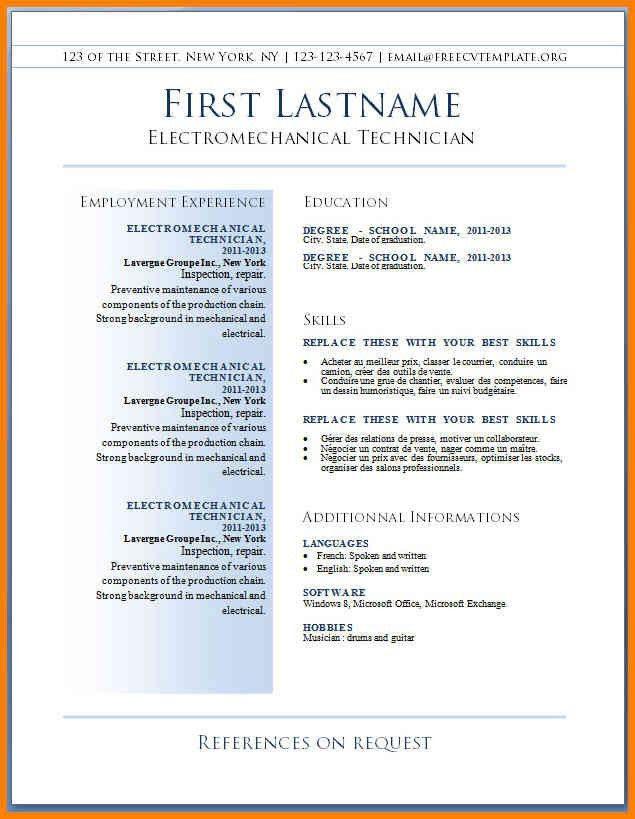 Printable Resume Form, resume templates free. free blanks resumes ...