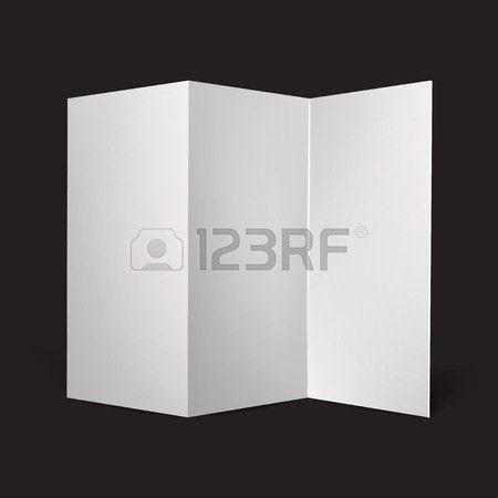 Blank Three Fold Paper Brochure Vector Illustration Royalty Free ...