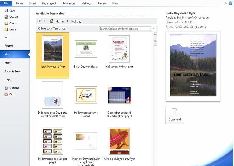 How to Find Microsoft Word Templates on Office Online