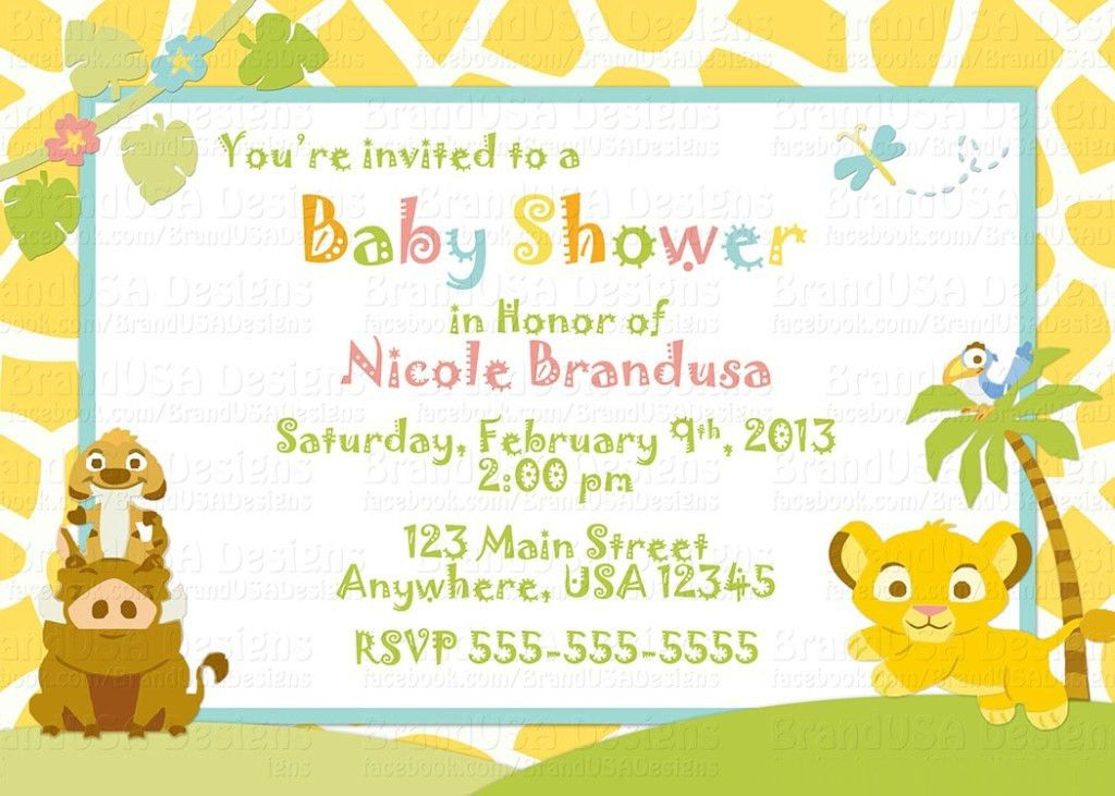 Online And Free Printable Baby Shower Invitation Templates ...
