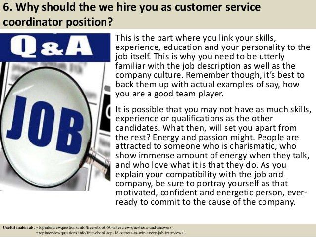 Top 10 customer service coordinator interview questions and answers
