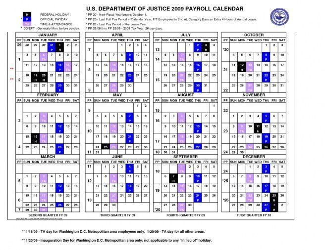 Federal Government Payroll Calendar 2017 | Blank Calendar Design 2017