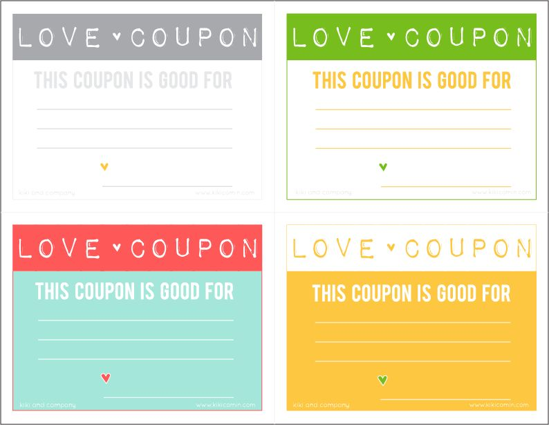 Give a Free Love Coupon this Valentine's Day!Perfect for a ...