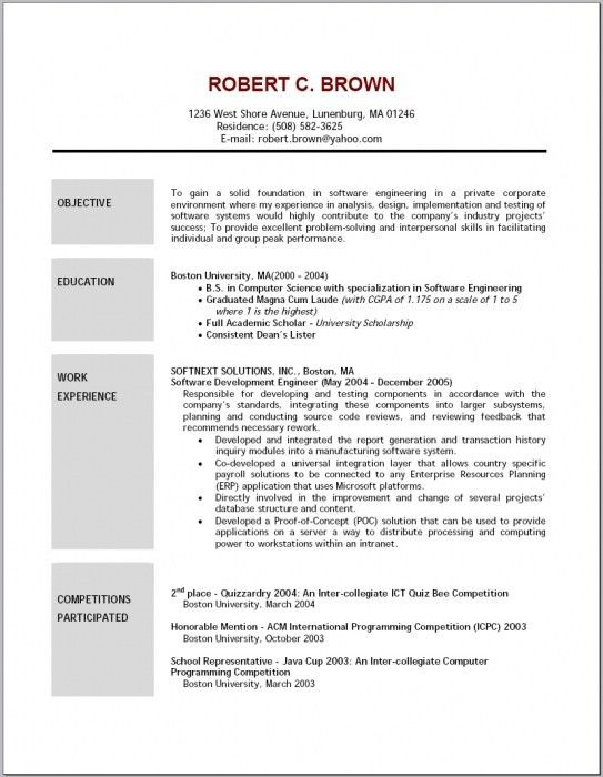 b com resume objective free doc format template. how to write good ...