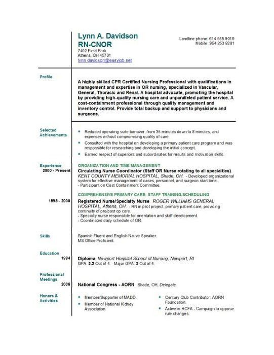 new graduate nursing resume and get inspired to make your resume ...