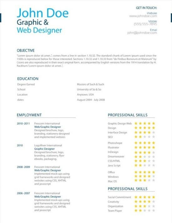 25 Superb Resume Templates