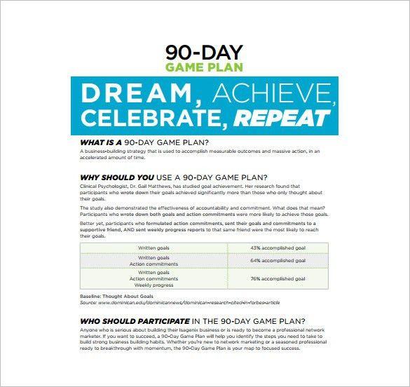 30 60 90 Day Plan Template - 20+ Free Word, PDF, PPT, Prezi ...
