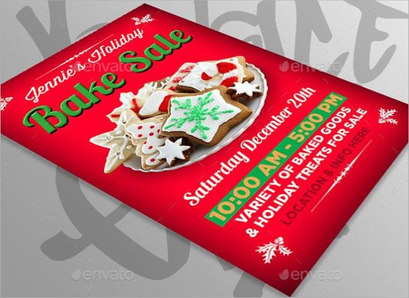 Bake Sale Flyer Template -19+ Download In Vector EPS, PSD