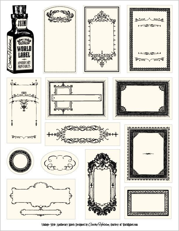 Free downloadable & customizable apothecary labels. Nice ...