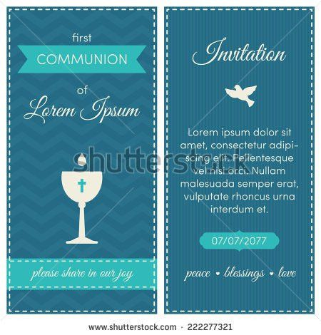 Communion Invitation Stock Images, Royalty-Free Images & Vectors ...