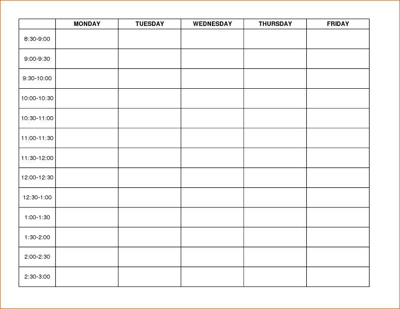 Calendar Maker Blank Template | Free Monthly Calendar