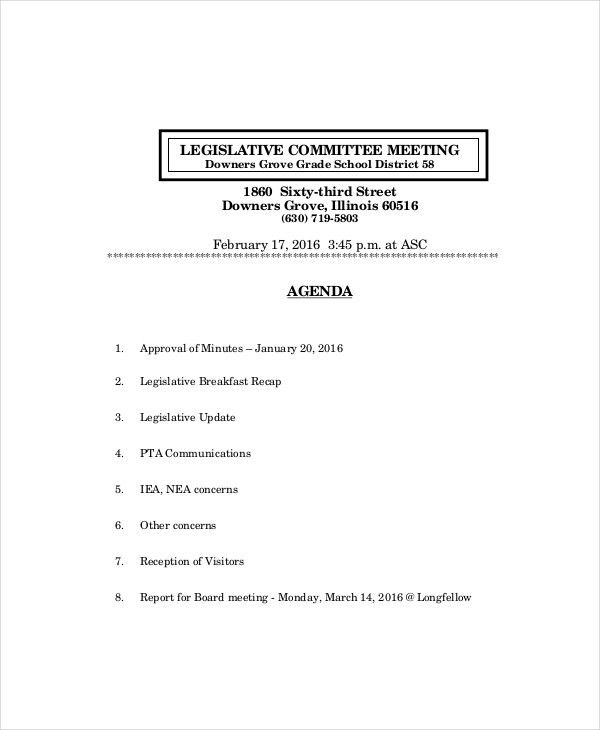 Board Meeting Agenda Template – 10+ Free Word, PDF Documents ...