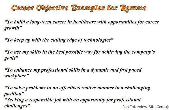 Example Resume Objective. Science Teacher Resume Objective - Http ...