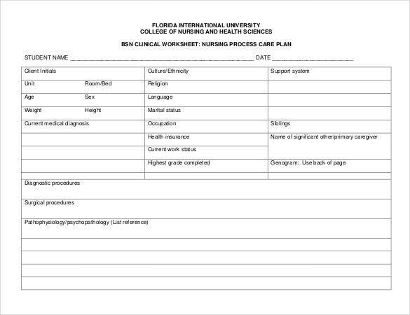 Nursing Care Plan Templates - 16 Free Word, Excel, PDF Documents ...
